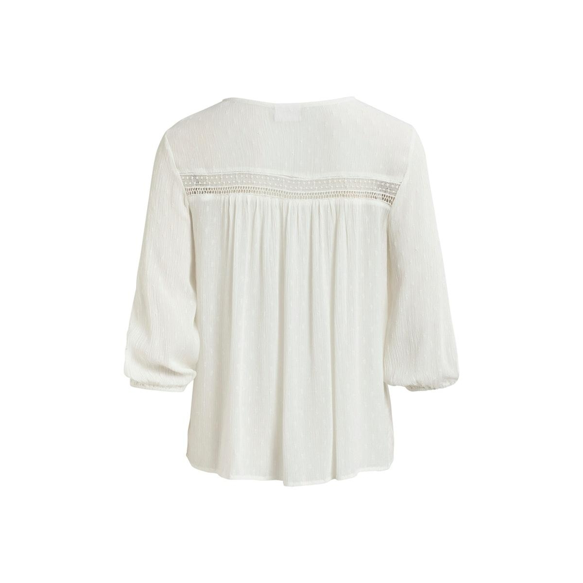 viazolla 3/4 top 14057743 vila blouse cloud dancer