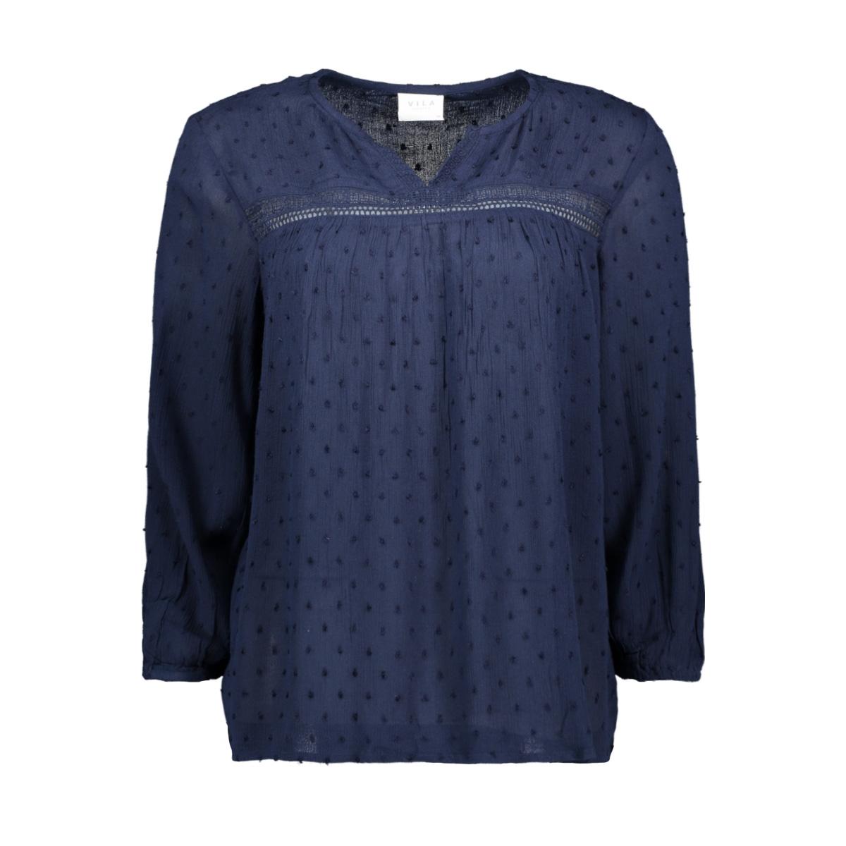 viazolla 3/4 top 14057743 vila blouse navy blazer