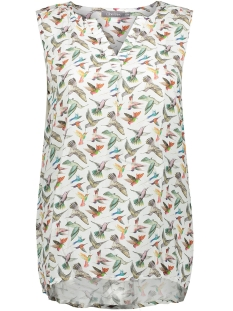 top multicolour birds sleeveless 03153 61 geisha top 000998 off white