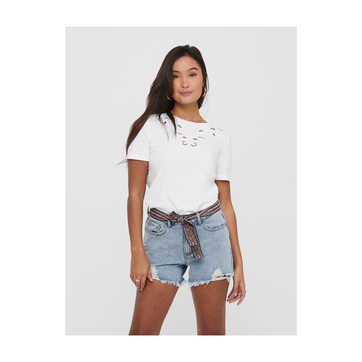 onltheresa life s/s top jrs 15204300 only t-shirt bright white