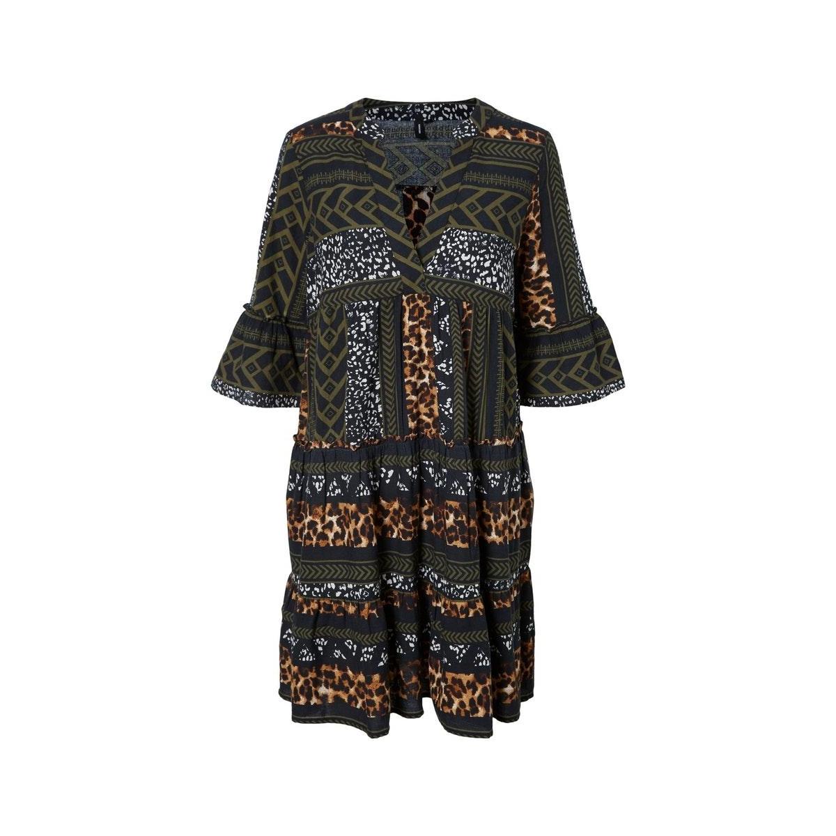 vmdicthe 3/4 tunic exp ga 10225127 vero moda tuniek black/animal