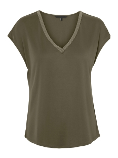 Vero Moda T-shirt VMALBA SS V-NECK  TOP JRS REP LCS 10221115 Ivy Green