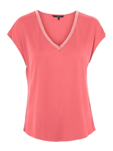 Vero Moda T-shirt VMALBA SS V-NECK  TOP JRS REP LCS 10221115 Tea Rose