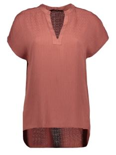 Vero Moda T-shirt VMBRISA S/S V-NECK TOP WVN TALL 10224129 Mahogany