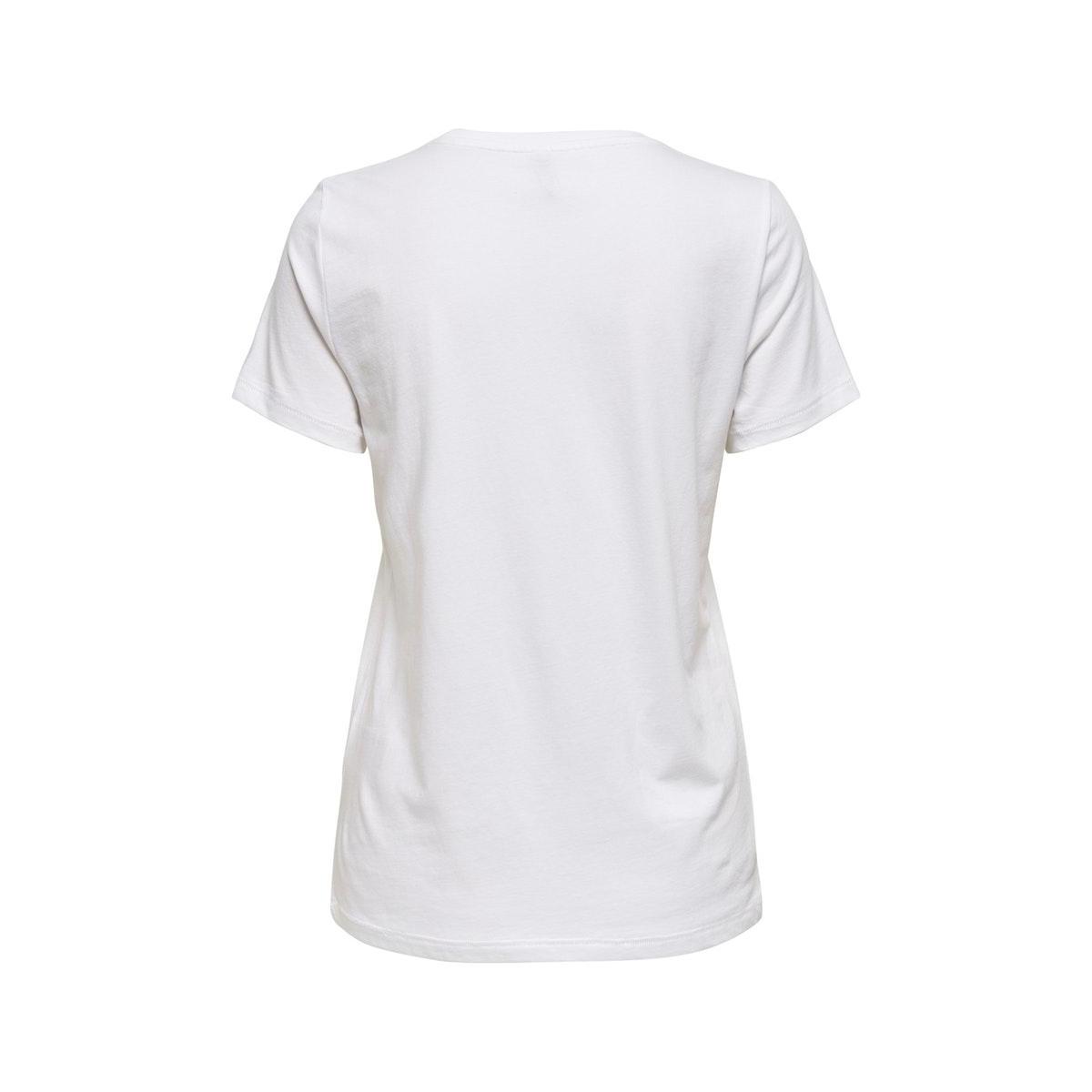 onlkia life reg s/s top box jrs 15206154 only t-shirt bricht white/strong
