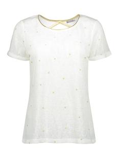 Geisha T-shirt TOP ROUND NECK WITH GOLD STARS 03175 22 OFF WHITE