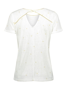 top round neck with gold stars 03175 22 geisha t-shirt off white