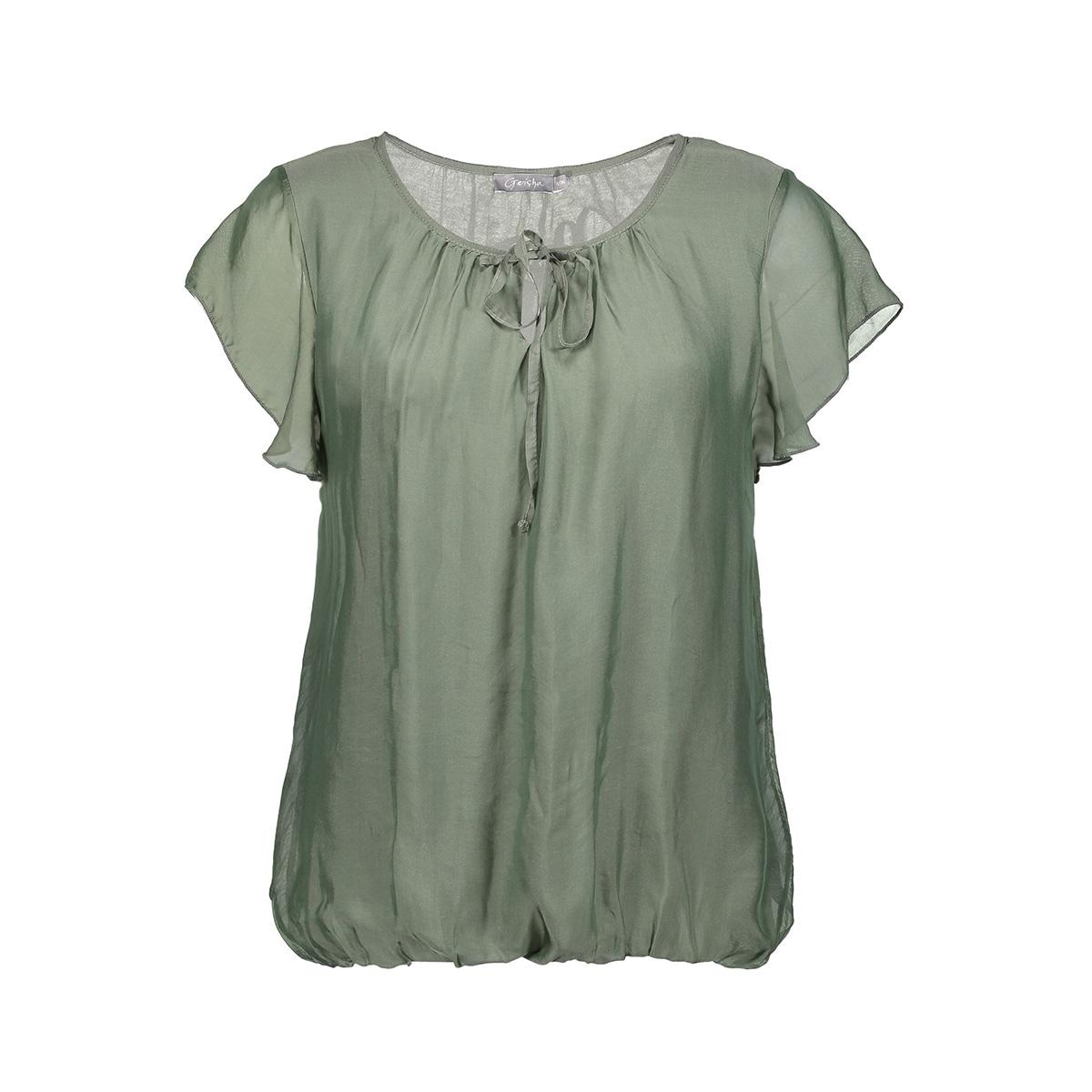 top silk with ruffles 03290 70 geisha t-shirt army