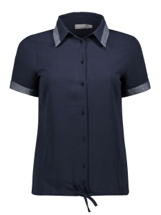 Geisha Blouse BLOUSE SS WITH LUREX DETAILS 03202 20 Navy