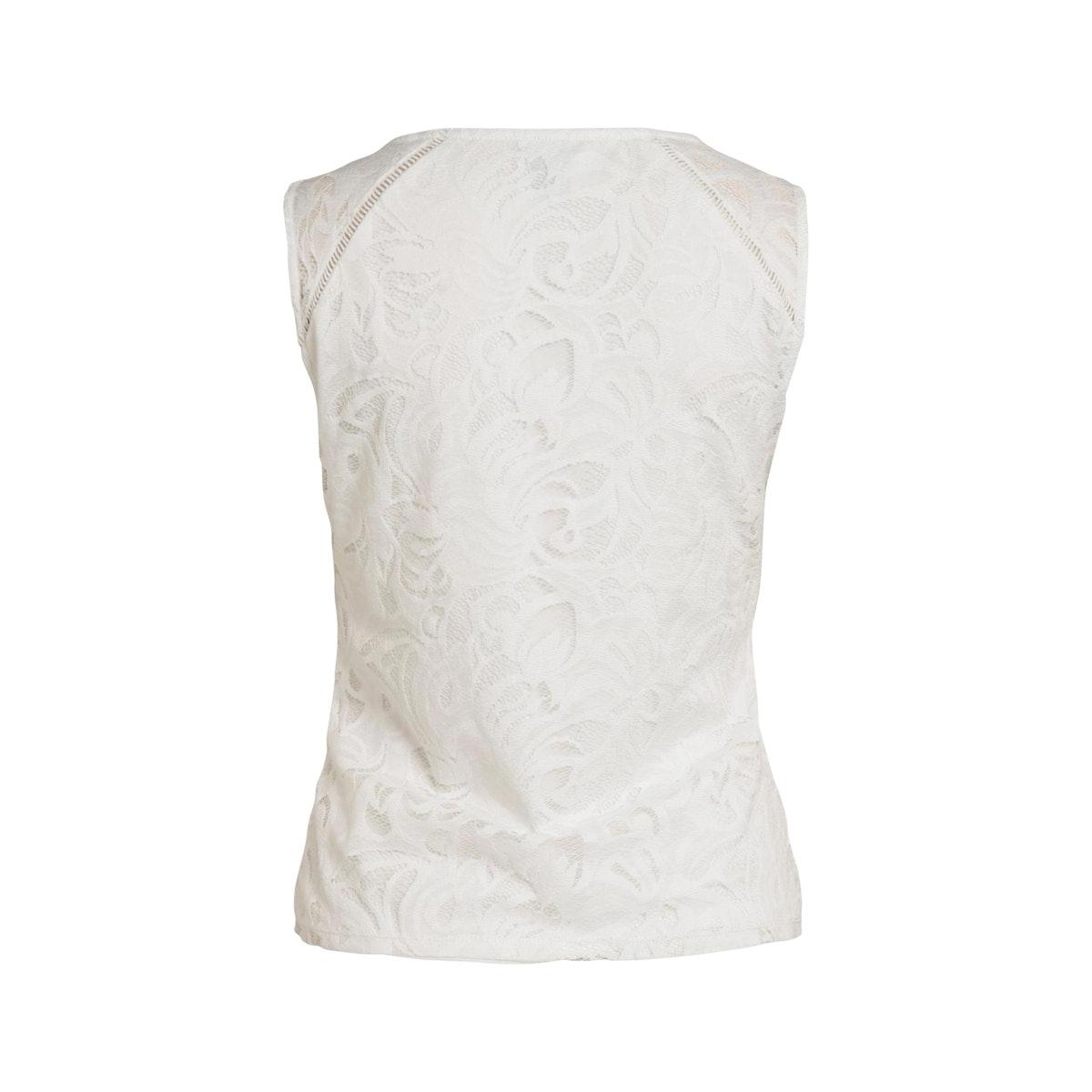 vistasia v-neck lace s/l top-fav nx 14057250 vila top cloud dancer