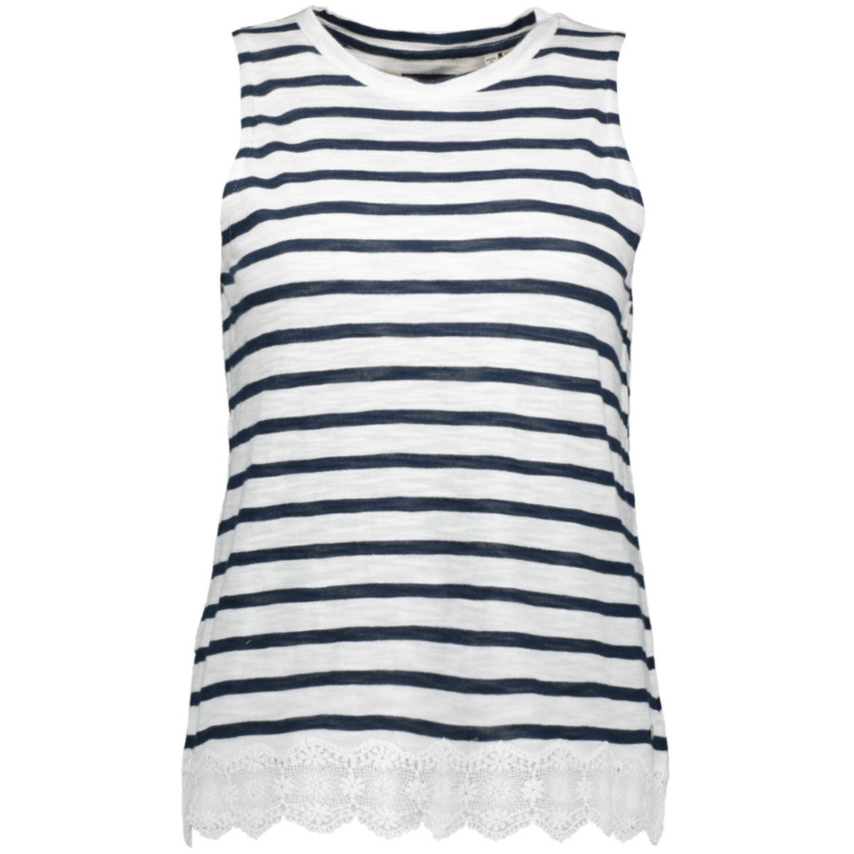 lace mix vest w6010170a superdry top navy stripe
