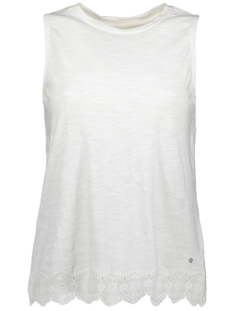 Superdry Top LACE MIX VEST W6010170A CHALK WHITE
