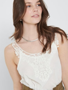 Only Top ONLBEVERLY S/L TOP WVN 15205690 Cloud Dancer
