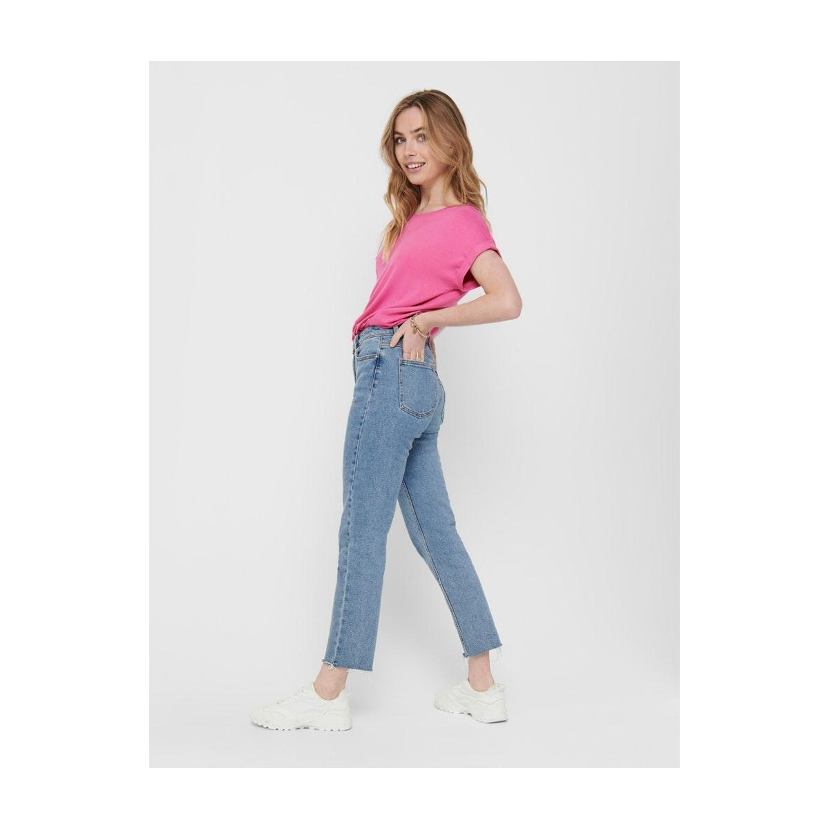 onlmoster s/s o-neck top noos jrs 15106662 only t-shirt ibis rose
