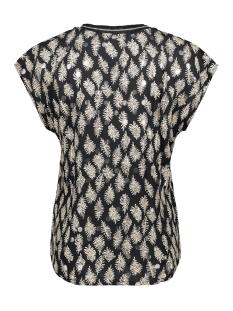 top v neck sleeveless foil print 03362 40 geisha t-shirt black/off-white