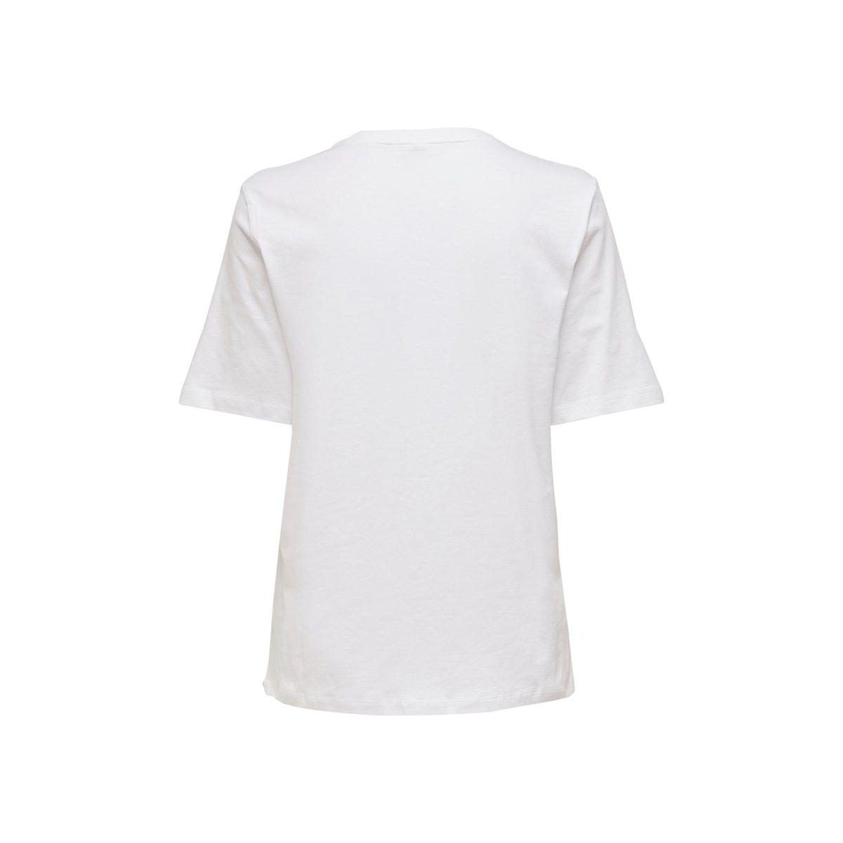 onlkita life boxy s/s world top box 15199873 only t-shirt bright white