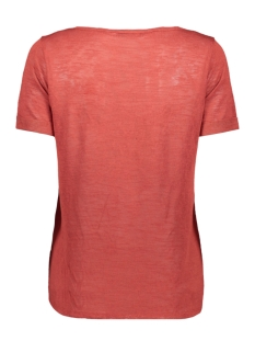 objtessi slub s/s v-neck seasonal 23026968 object t-shirt tandori spice