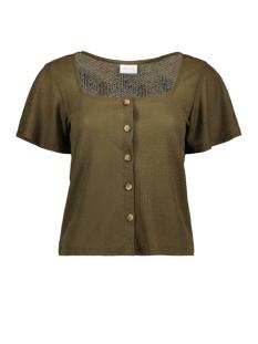 Vila T-shirt VIMOANA S/S TOP 14057403 DARK OLIVE