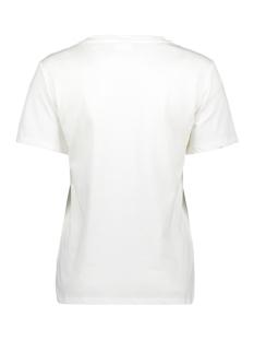 vitabita s/s t-shirt/ki 14057031 vila t-shirt cloud dancer/eagle
