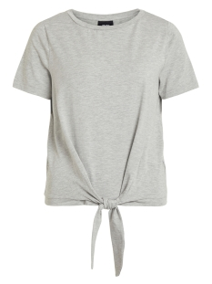 Object T-shirt OBJSTEPHANIE MAXWELL S/S TOP NOOS 23029269 Light Grey Melange