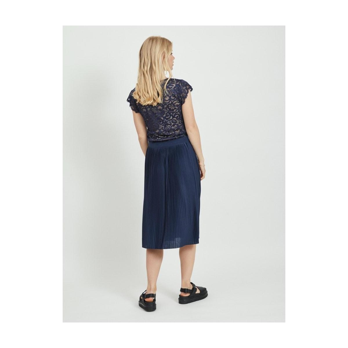 vitaini s/l lace top 14056937 vila t-shirt navy blazer