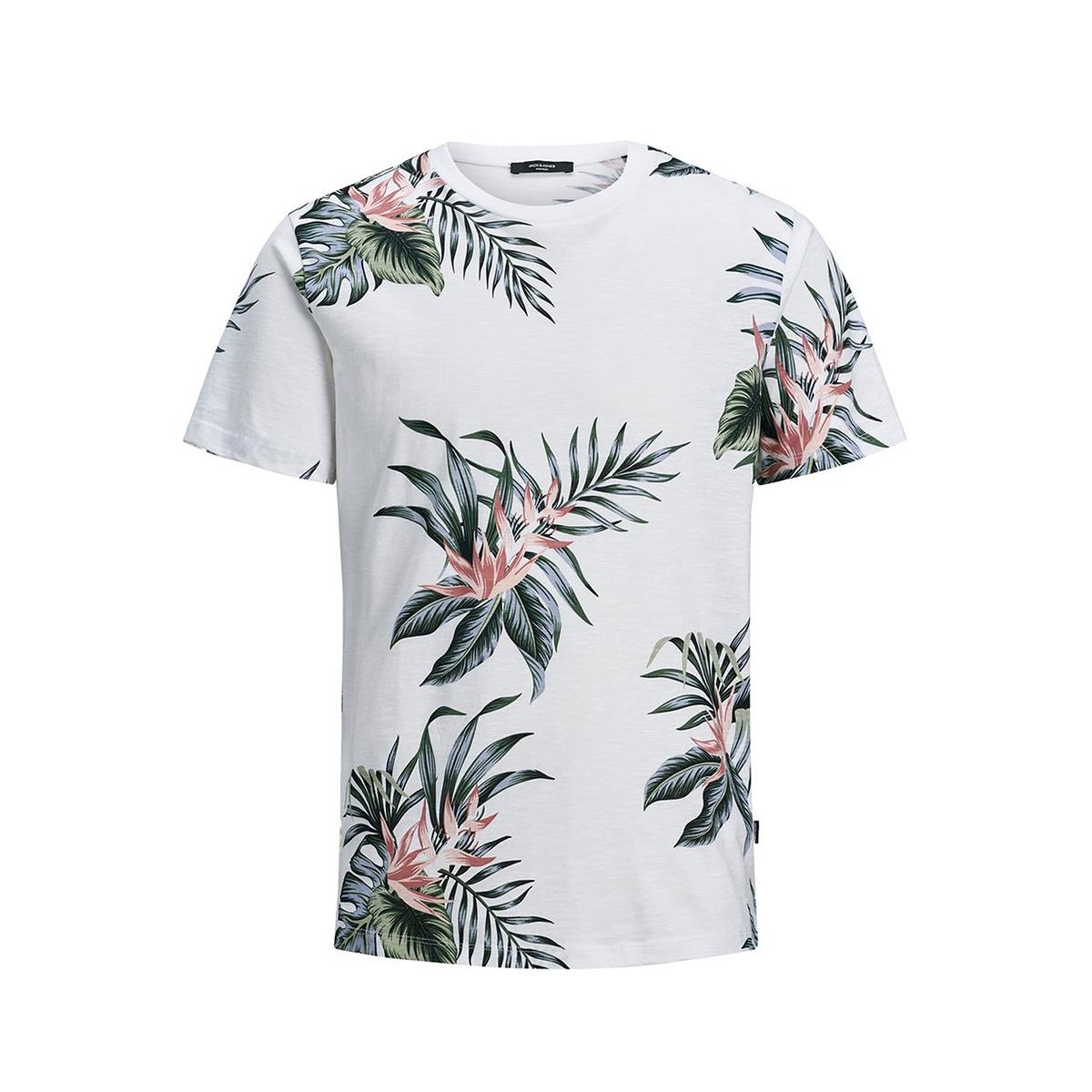 jprholiday bla. tee ss crew neck 12170985 jack & jones t-shirt white/reg fit