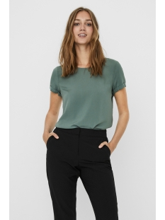 Vero Moda T-shirt VMNADS SS FOLD UP W KEYHOLE BLOUSE 10235460 LAUREL WREATH