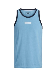 jcoicon tank top 12171428 jack & jones t-shirt dusk blue/slim melan