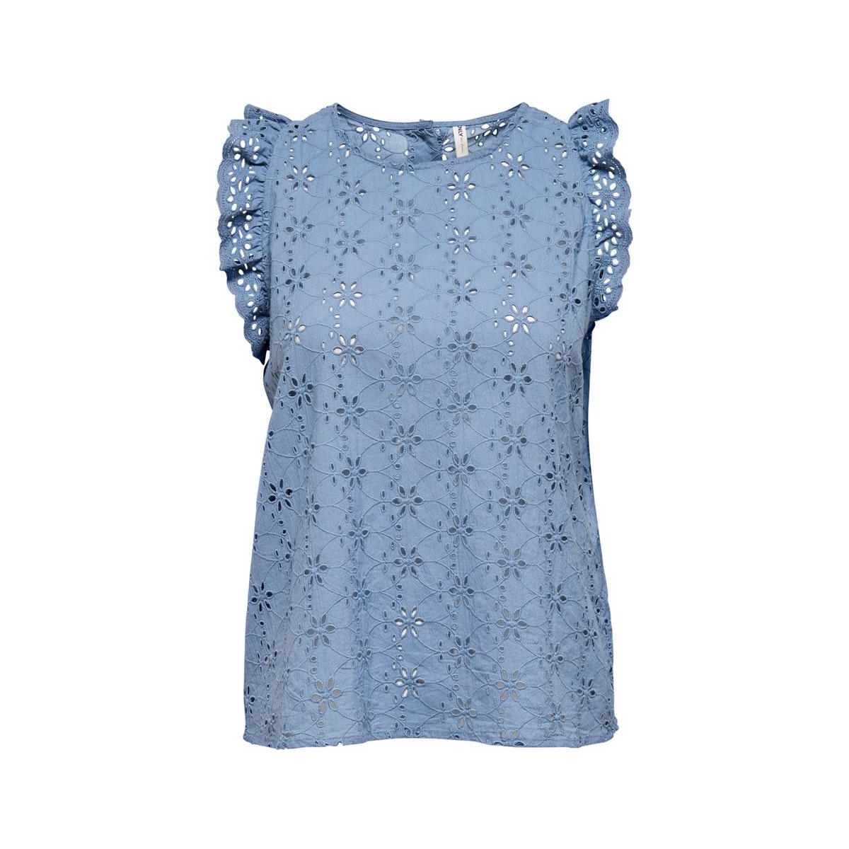 onldestiny life sl emb ang dnm top 15203580 only top faded denim