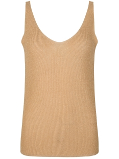 Ydence Top RAQUEL KNITTED TOP MOUWLOOS SAND