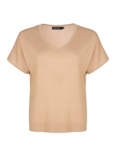 Ydence T-shirt AMARA KNITTED LUREX TOP GOLD