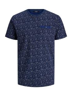 jprblackpool bla. tee ss crew neck 12170950 jack & jones t-shirt blue depths/reg