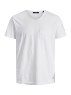 jprwayn bla. ss tee v-neck 12170956 jack & jones t-shirt white/reg