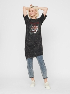 Noisy may Jurk NMWEEKEND S/S WASHED TEE DRESS 27013593 Black/STRONGER