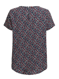 jdyrosie s/s zip top wvn 15197853 jacqueline de yong t-shirt navy blazer/scarlet sa