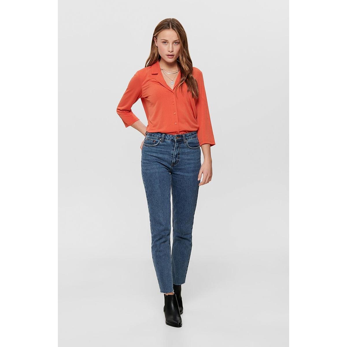 jdywellina 3/4  button top jrs 15196880 jacqueline de yong blouse chili/dtm button