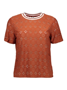 Only T-shirt ONLSONIA S/S TOP JRS 15204312 BURNT HENNA
