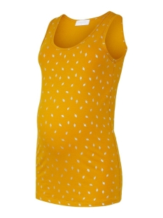 Mama-Licious Positie shirt MLFOLEY JERSEY TANK TOP 20011256 Chinese Yellow/SILVER FOI