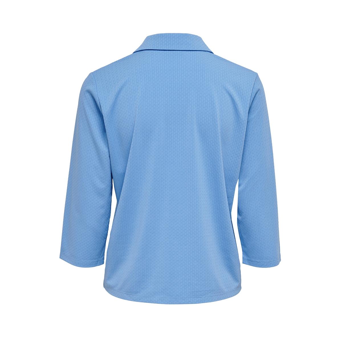 jdywellina 3/4  button top jrs 15196880 jacqueline de yong blouse silver lake blu/dtm button