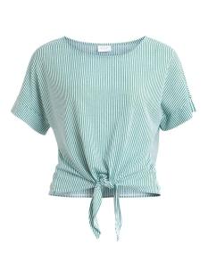 Vila T-shirt VISHELIA S/S TOP 14057556 Ultramarine Green/CLOUD DANCER