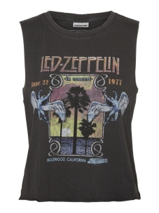 Noisy may Top NMMAX S/L LED ZEPPELIN WASHED TOP BG 27013096 BLACK/COLORED