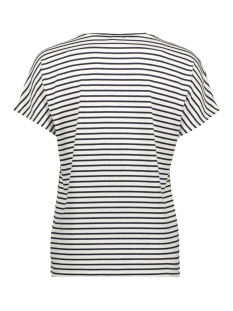 videll s/s v-neck t-shirt/l 14057207 vila t-shirt navy blazer/w. snow wh