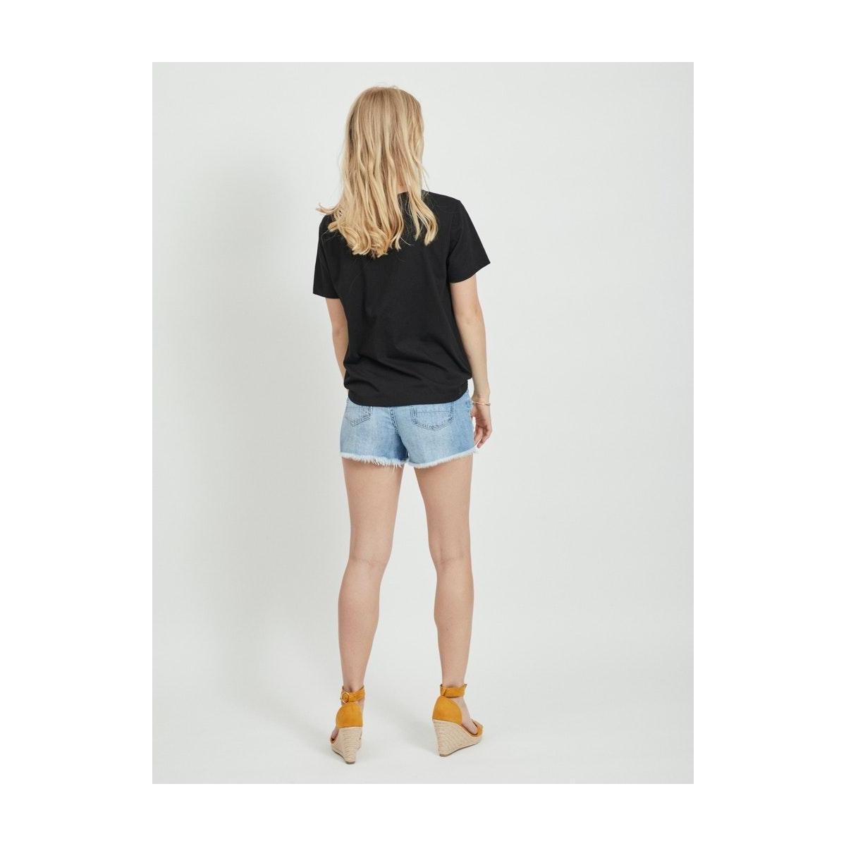 vihabba t-shirt 14062153 vila t-shirt black/continue