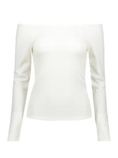 viedel l/s offshoulder rib top/za 14057935 vila t-shirt cloud dancer