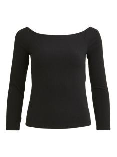 Vila T-shirt VIEDEL L/S OFFSHOULDER RIB TOP/ZA 14057935 Black