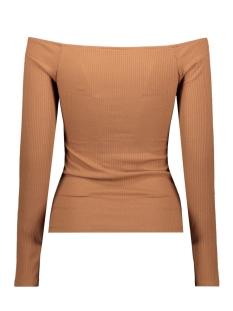 viedel l/s offshoulder rib top/za 14057935 vila t-shirt rawhide