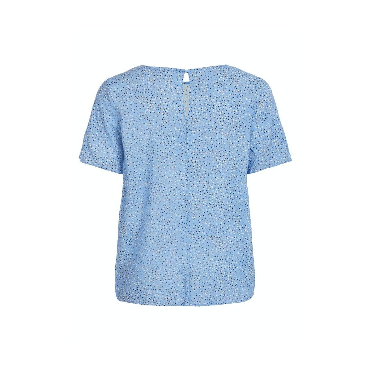 vipaddina s/s straight top /su dk 14059850 vila t-shirt provence/dots