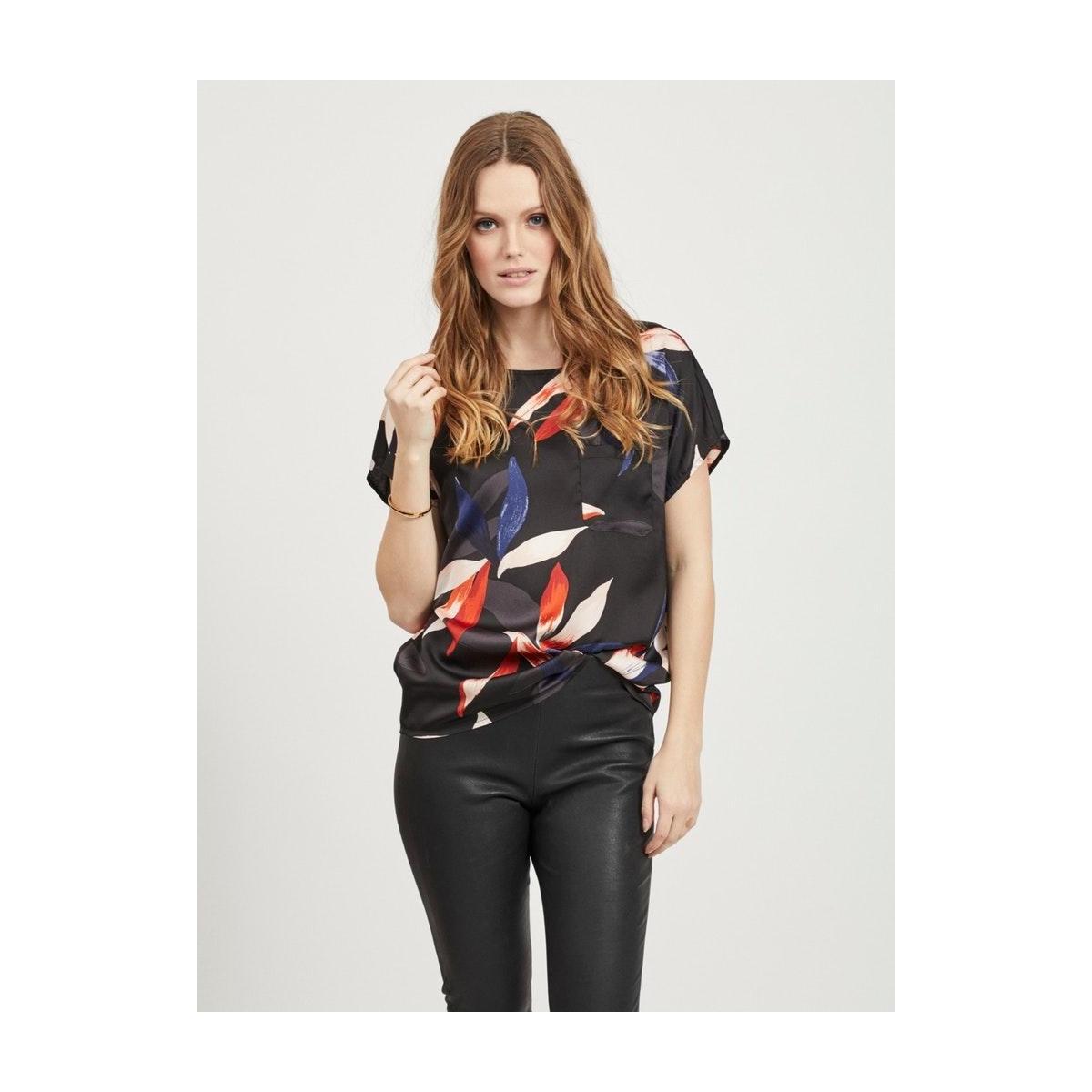 objmichelle s/s top a div 23033621 object t-shirt sky captain/big leave