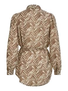 vikoal l/s shirt /rx 14059346 vila blouse cloud dancer/zebra java