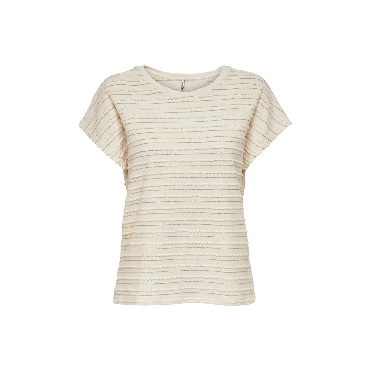 onlmillie s/s glitter top jrs 15199160 only t-shirt cloud dancer